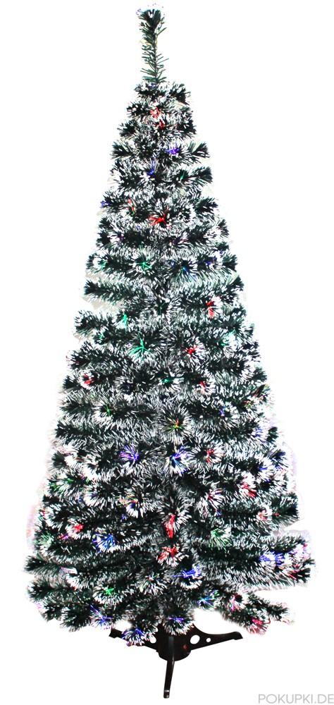 Kunstlicher weihnachtsbaum mit glasfaser