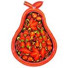 """Tablett """"Birne"""", Hochloma, H-29 cm"""