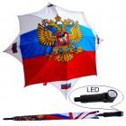 """Regenschirm """"Russland"""" mit LED-Licht"""