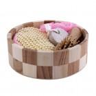 Sauna-Zubehör 4-teilig Set / rosa
