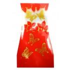 "Oster-Vase ""Schmetterlinge"" rot"