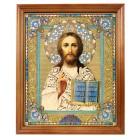 """Ikone """"Gospod' Vsederzhitel'"""" in Holzrahmen, 20,4 x 24,2 cm, IK-0012"""