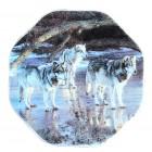 """Magnet """"Wölfe"""", achteckig, 6 x 6 cm, MA-12905"""