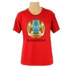 """T-Shirt mit Schriftzug in englisch: """"Kazakhstan"""" / rot"""