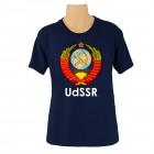 """T-Shirt mit Schriftzug in englisch: """"UdSSR""""/ mit dem Wappen der UdSSR/ blau"""