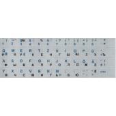 Tastaturaufkleber. Farbe: silber (Russisch + Deutsch)