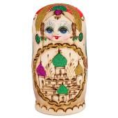 "Matrjoschka ""Kirchenkuppeln"", rot, 7 Puppen, MA-00014"
