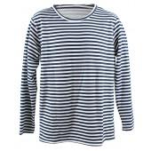 T-Shirt mit blauen Streifen langarm warm gr. 56 TS-32715
