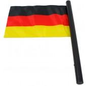 Flagge Deutschland mit Hymne, ca. 30 x 20 cm