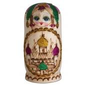 """Matrjoschka """"Kirchenkuppeln"""", rosa, 7 Puppen"""