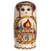 """Matrjoschka """"Kirchenkuppeln"""", orange, 7 Puppen, MA-13775"""
