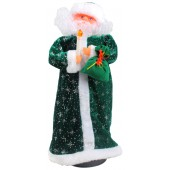 Weihnachtsmann mit leuchtende Kerze 44 cm