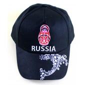 """Kappe """"Russia"""" mit Stickerei"""