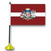"""Tischflagge """"Lettland"""", mit Ständer"""