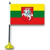"""Tischflagge """"Litauen"""", mit Ständer"""