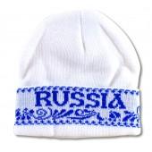 """Wintermütze weiß """"Russia"""" Gzhel"""