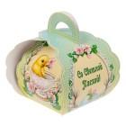 """Коробочка подарочная для яйца """"Со Светлой Пасхой. Цыпленок в чашке"""""""