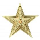 Рождественская звезда, светится с 1 LED, В-15 см
