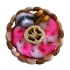 Набор банных принадлежностей в деревянной форме (окошки-сердце)