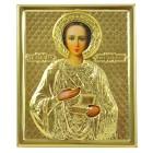 """Икона """"Святой мученик Пантелеймон"""", в ризе, 11 x 13,3 см"""