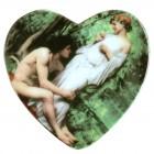 "Магнит ""Живопись"", в форме сердца, 6 x 6 см, MA-13015"