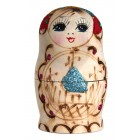 "Матрешка ""Купола"", 8,5 см, красная, 5-кукольная, MA-14235"