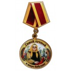 """Магнит-медаль сувенирная """"Лучшей бабушке"""" деревянная Д-5 см"""