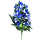 Букет из искусственных цветов бело-синий BL-18406