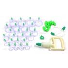 Набор пластиковых банок для вакуумного массажа с насосом и магнитами, 24 шт.