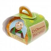 """Коробочка подарочная для яйца """"Любимому дедушке. Со светлой пасхой!"""""""