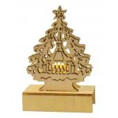 Рождественская декорация, светится с 1 LED, В-11 см