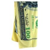 Полотенце с мотивом 100 долларов 70 x 140 см