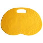 Коврик банный с надписью, желтый.
