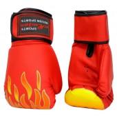 Боксерские перчатки из искусственной кожи красные