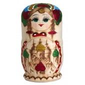 """Матрешка """"Купола"""", 15 см, голубая, 6-кукольная, MA-13985"""