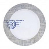 """Фарфоровая тарелка """"Почтовый штамп"""""""