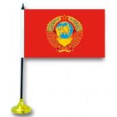 "Флажок на стол ""Герб СССР"" с подставкой"