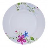 """Фарфоровая тарелка """"Луговые цветы"""""""
